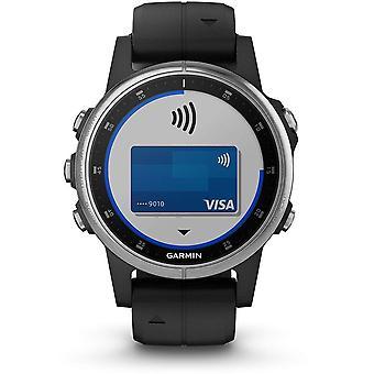 Garmin 010-01987-21 Fenix 5S Plus Zilver en Zwart Siliconen Band Smartwatch