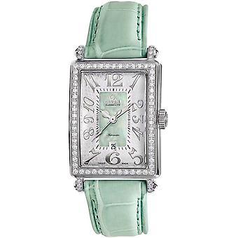Gevril Women's 6206NL Glamour verde piel de becerro reloj de banda. [Ver]