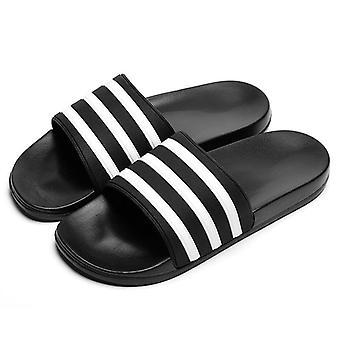 Men's Women Couple Flip Flops Soft Stripes Casual Summer Slippers Shoe