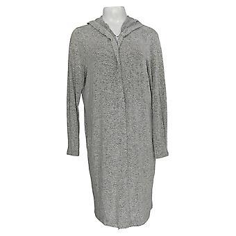 Anybody Women's Sweater Brushed Hacci Wrap Cardigan Gray A345302