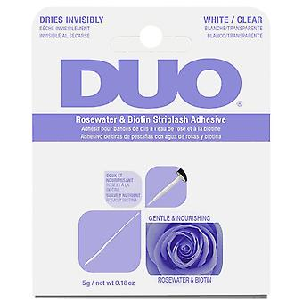 DUO Lash Adhesive in White / Clear with Rosewater & Biotin - Long Lasting - 5g