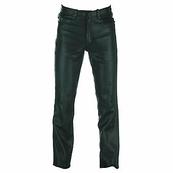 Spada Western Leather Motorcycle Trousers Black