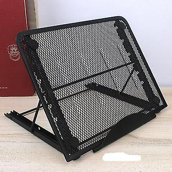 Adjustable And Fold-able Laptop Stand With Ventilated Mesh Platform