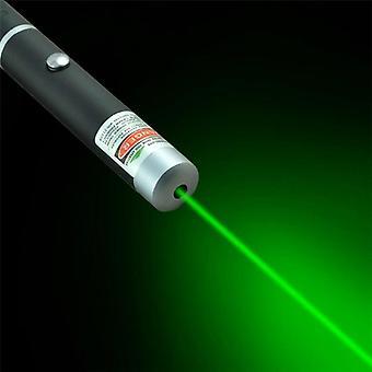 Vihreä laserkynä musta vahva näkyvä valosäde laserpiste tehokas sotilaallinen