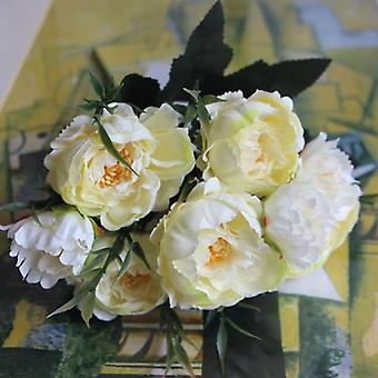 8 Heads Silk Artificial Peonies Flowers For Home/wedding Marriage Diy Decor