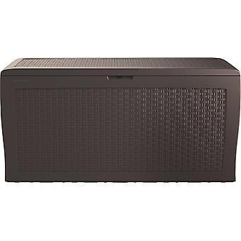 Pudełko ogrodowe Rattan Look Box 270L brązowy