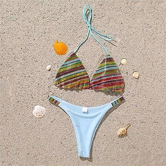 Sexy Bikini Set Trblietky Ženy's Plavky