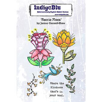 IndigoBlu Faerie Flora A6 Gummi Frimerker