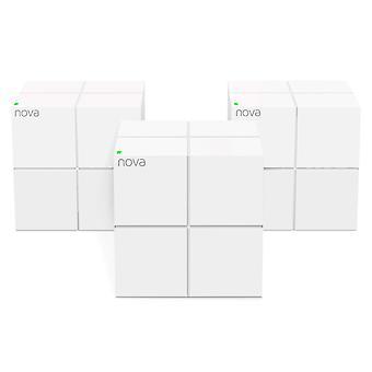 Tenda nova mw6-3 whole home mesh wi-fi system, 6000sq² wi-fi coverage, two gigabit ports, app contr