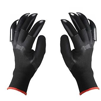 Garden Gloves, Abs Plastic, Rubber With Claws, Quick Easy To Dig And Plant