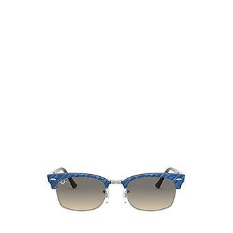 Ray-Ban RB3916 wrinkled blue on brown unisex sunglasses
