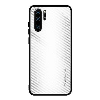 Single Shockproof Tempered Glass Case voor Honor 9X Pro - Wit