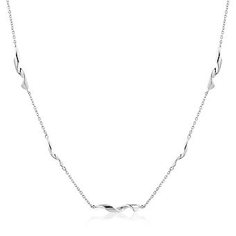 "Ania Haie Sterling Silver Rhodium Plated Helix 15"" Necklace N012-02H"