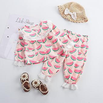 フルーツ&野菜印刷の寝物のグリルズベビー衣類セット