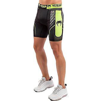 Venum Training Camp 3.0 Shorts de compressão Preto/Neo Amarelo