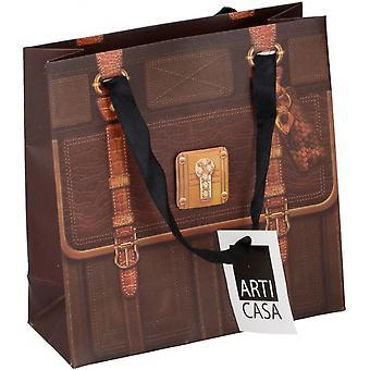 Gift bag 20X8X20 Cm Paper Brown