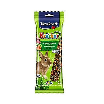 Vitakraft Rabbit Treats Vegetables-beetroot Stick 2pk (Pack of 5)