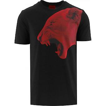 HUGO Musta Denbei T-paita