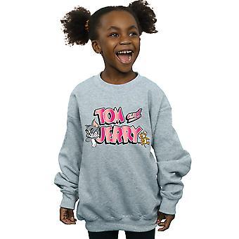 Tom And Jerry Girls Gradient Logo Sweatshirt