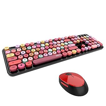 Bluetooth Keyboard  Mixed Color Round Key Cap