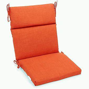 Coussin de chaise carrée extérieure en polyester de 22 pouces par 45 pouces - Tangerine Dream