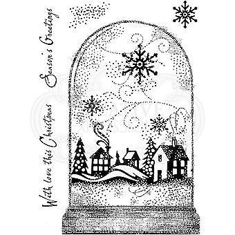 Woodware Clear Singles Snowglobe 4 x 6 -näpyl ja leima
