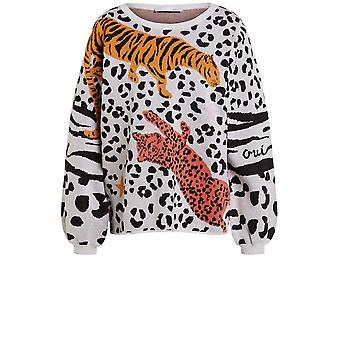 Jumper de design de leopardo oui bold