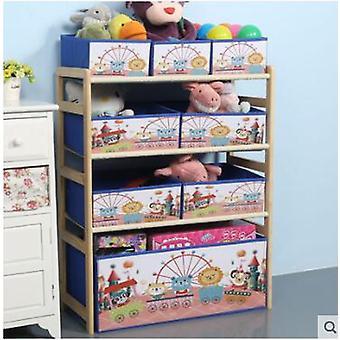 Barneskap, enkel praktisk solid tre barnehage oppbevaringsstativ