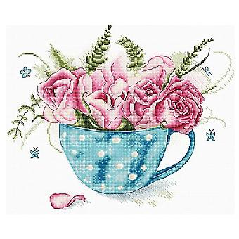 Letistitch Cross Stitch Kit - A Cup of Roses (Leti916)