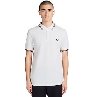 Fred Perry Men's Twin Tipped Polo Camiseta Ajuste Regular