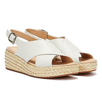Clarks Kimmei Cross Leather Womens White Sandals