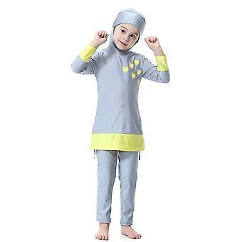 Swimwear Kids Islamic Two-piece Long Sleeve Swimsuits