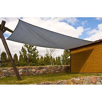 Solar sejl 400x300 cm Grå - Rektangel - Universal Blinds