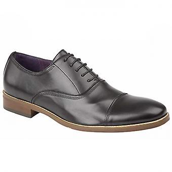 Goor Dale Mens Faux Leather Oxford Shoes Black