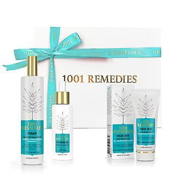Spa gift set with acne moisturiser, argan oil for hair & natural air freshener 100% natural & vegan, made in france