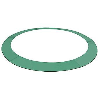 4.57メートルの円形トランポリンのためのvidaXLトランポリンの端のカバーPEグリーン