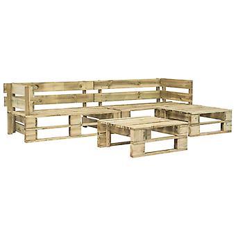 vidaXL 4-pcs. Garden sofa set made of pallets wood