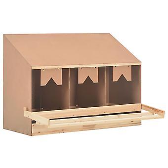 vidaXL Legenest Chicken Nest 3 compartments 93 x 40 x 65 cm solid wood pine