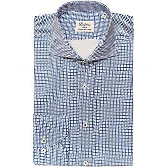 Stenstroms Slimline Circle Print Shirt