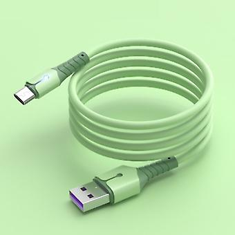Uverbon Liquid Silicone Charging Cable for Micro-USB - 5A Data Cable 1 Meter Charger Cable Green