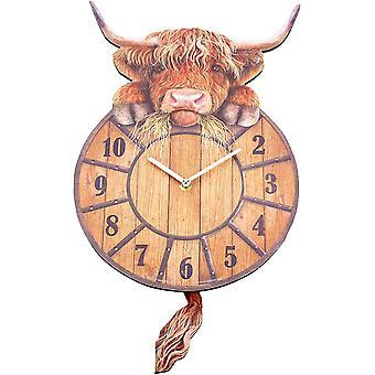 Gerui Highland Tickin' Clock 25cm Red, MDF