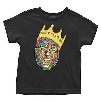Biggie Smalls Toddler T Shirt Crown Logo nou Oficial Negru 12 luni la 5 ani