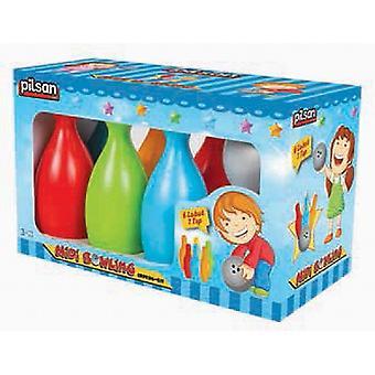 Pilsan Bowling Midi 06419, Jeu de bowling pour enfants avec 6 cônes colorés et 1 boule