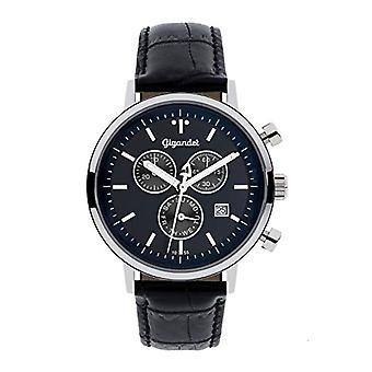 Gigandet G6-010 - Montre homme, bracelet en cuir, couleur: noir