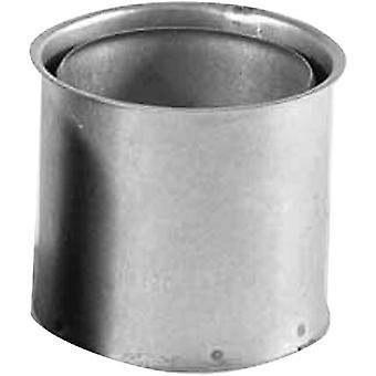 Wandfutter doppelt in Silber, für Ofenrohre mit der Stärke 0,6 mm, Doppelwandfutter aus