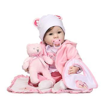 """Reborn Baby Dolls Docka Mjukt Silikon 22 """"/ 55cm Realistyczny prezent dla noworodków"""