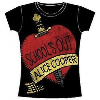 Alice Cooper écoles sur Ladies Skinny T-shirt: Moyen