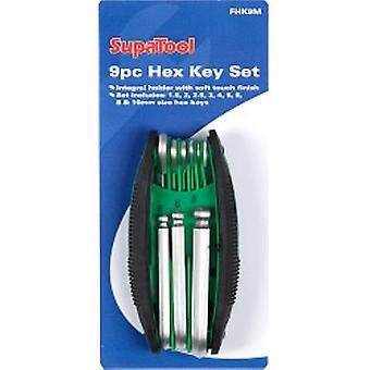 Juego de llaves hexagonadecie SupaTool con soporte integral de 8 piezas