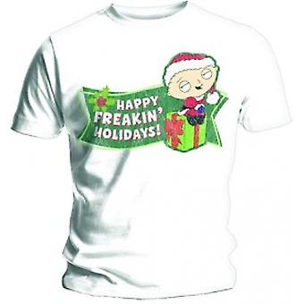 Family Guy Freakin Holidays Mens White T Shirt: Small