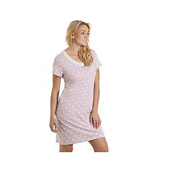 Камилла Айвори Цветочная принт Сиреневая хлопчатобумажная ночная рубашка